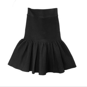 BCBG MAXAZRIA Pleated Mini Skirt